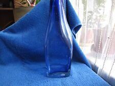 Sweden Kosta Boda Art Glass Vase flask Bottle blue scandinavian vintage vtg