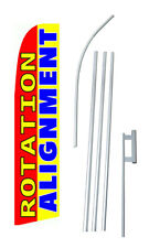 Tire Rotation Alignment Extra Wide Swooper Flag Bundle