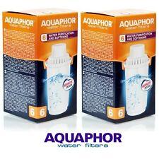 Aquaphor b100-6 2 Cartucce di ricambio per le aree di acqua dura, Filtro Caraffa Brocca