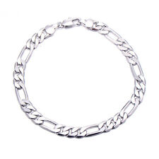 Classic Heavy Stainless Steel Figaro Braclet Mens Fashion Braclets Free Shiping