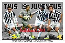 JUVENTUS FOOTBALL CLUB PHOTO COLLAGE - BUFFON - BAGGIO - LOOKS AWESOME FRAMED