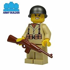 WW2 American US Army Minifigure made using custom printed Lego parts