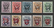 Mittellitauen stamps 1920 MI 4-13  MLH  VF  SCARCE Set!