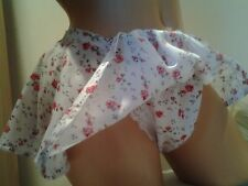 Red Rose print Skirted Panties / Pettipants Sissy CD TV Lingerie for Men