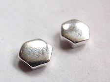 Hexagon Stud Earrings 925 Sterling Silver Corona Sun Jewelry Six-Sided n87