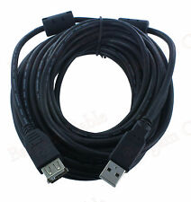 25 FT High Speed USB 2.0 Extension Cable Black for PC Laptop Cord(U2A1-A2-25)