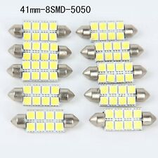 10X5050 41mm 8SMD Car Interior Dome Festoon LED Light Bulbs Lamp White Super 12V