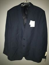 Calvin Klein Dark Blue Linen Blend Malik Slim Fit Two Button Blazer 44R NWT