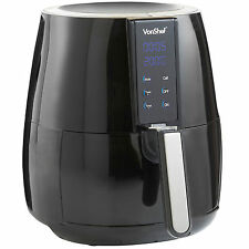 VonShef 2.2L Digital Air Fryer Rapid Healthy Low Fat Oil Free Frying - Black
