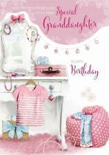 Special Granddaughter Dressing Table Clothes Design Large Happy Birthday Card