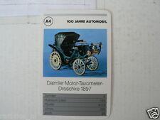 52-MERCEDES 100 JAHRE A4 DAIMLER MOTOR-TAXOMETER DROSCHKE 1897 KWARTET KAART,