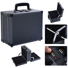 Double Locking Handgun Box Gun Case Pistol Hard Carry Foam Storage w/ Code Set