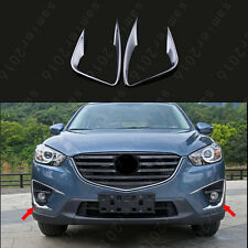 2x Chrome Front Fog Light Lamp Frame Ring Cover Trim For Mazda CX-5 CX5 13-2016