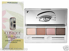 Clinique ALL ABOUT SHADOW Quad Eyeshadow Palette Cioccolato Rosa ☆ ☆ NUOVO IN SCATOLA