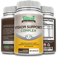 Vision Eye Vitamins for Eye Health Lutein, Vitamin A, Taurine, Lycopene,Capsules