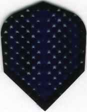 Blue and Black Dimplex Dart Flights: 3 per set