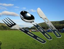4-IN-1 Camping Cutlery Cooking Utensils Set Fork Spoon Knife Bottle Opener OLCUT