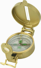 Engineer Directional Compass - Liquid Filled  Metal Casing  - Magnifying Glass