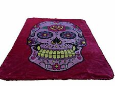 Pink Sugar Skull New Korean Style cozy Queen size Blanket