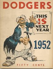 1952 Brooklyn Dodgers Yearbook Robinson, Campy, Reese Hodges Snider NICE!!