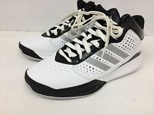 Men's Adidas Basketball Shoes Size 11.5 White/silver/black C766814 *Mint*