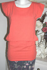Cleptomanicx  Long Shirt Kurzarm Heather Hot Coral Dar Grey  Ronja  size: S Neu