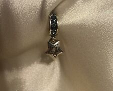 Brighton Dangling Shooting Star w/ Blue Swarovski Crystals Spacer Charm Bead