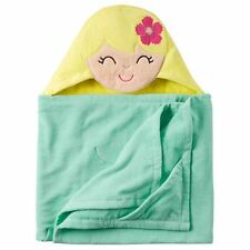 New Carter's Hooded Bath Towel Happy Hula Girl Terry Material NWT Toddler