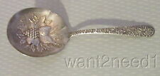 "antique KIRK & SON STERLING REPOUSSE BERRY FRUIT SERVING SPOON 5.25"" jam bonbon"