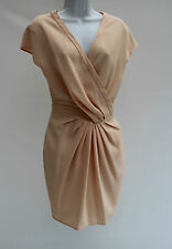 ASOS Mini Evening Wedding Wrap Dress with Fitted Waist Size 6 34 Peach