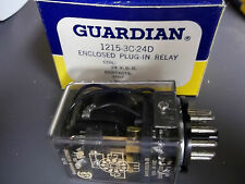 Gaurdian 1215-3C-24D Enclosed Plug In Relay 10 Amps 24 VDC New Old Stock
