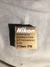 Nikon FM -3.0D eyepiece correction attachment  New in the box