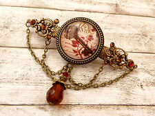 Barrette with keys in antique style, Steampunk hair accessories, handmade