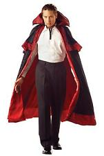 DELUXE BLACK RED LINING MIDNIGHT CARNIVAL CAPE COLLAR COSTUME DRESS MR156024