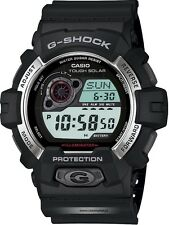 Casio Mens G SHOCK 200M Sport Black Resin World time Solar power Watch GR-8900-1