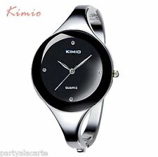 Kimio Branded Stainless Steel Ladies Women Watch Bracelet Girl Wristwatch Bangle