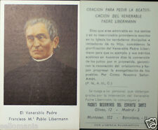 OLD BLESSED FRANCISCO LIBERMANN HOLY CARD ANDACHTSBILD SANTINI  SEE MY SHOP C704