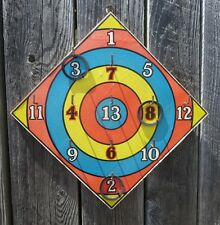 Ring Toss Wood Game Board by G.J. Hayter & Co England  Vintage