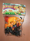 80'S VINTAGE WILD ANIMAL GAUSINI PLASTIC TOY ZOO MIB 3
