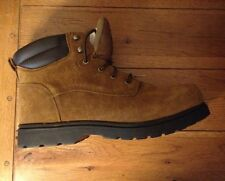 Men's Work Boots Slip Resistant, Oil Resistant Chocolate Size 13