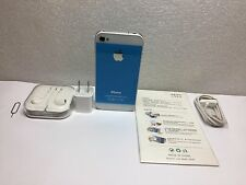 iPhone 4-8GB (Gsm AT&T)Custom Sky Blue i5 back style Straight talk Net10 Cricket