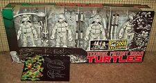 Signed TMNT SDCC 2008 B&W Figures Box Set Neca Teenage Mutant Ninja Turtles nycc