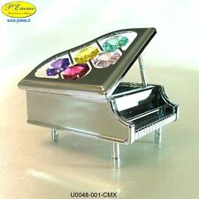 PIANOFORTE ARGENTATO CRYSTOCRAFT SWAROVSKI ELEMENTS
