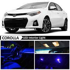 8x Blue Interior LED Package Light Kit for 2000-2016 Toyota Corolla + TOOL