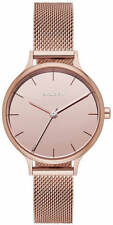 Women's Skagen Anita Mirror Rose Gold Steel Mesh Watch SKW2413