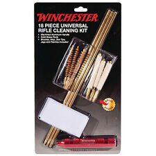 Winchester Rifle Cleaning Kit - 18 Piece Kit - Brass Rod - Brushes - Mops - Jags