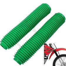 Green Universal Off-Road Fork Gaiters Gaitors For Honda Yamaha Kawasaki Suzuki
