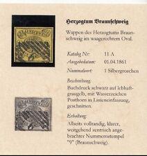 "11A / 1 Sgr. vollrandiges Luxusstück - zentrisch gestempelt ""9"" Braunschweig"