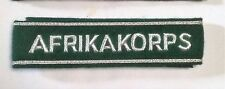German Army OFFICERS AFRIKA KORPS CUFF TITLE