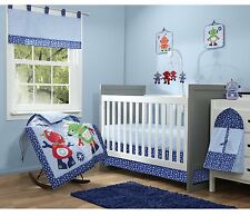 Baby Boom Robot 10 Piece Crib Bedding Set Blue